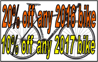 buy 1 bike get 2nd half off!